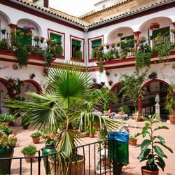 Binnenplaats in Motoro, Spanje