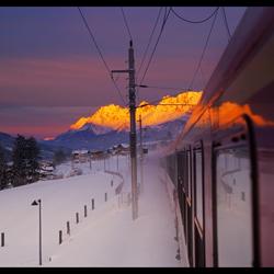 Onderweg naar de wintersport