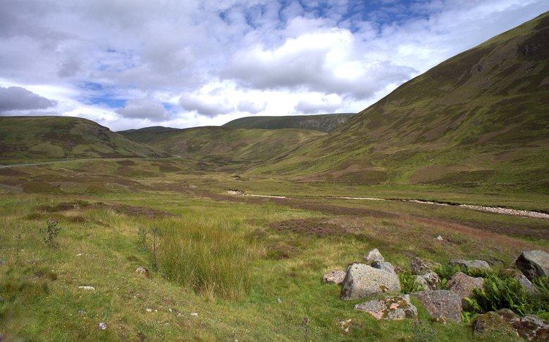 The mountains  -