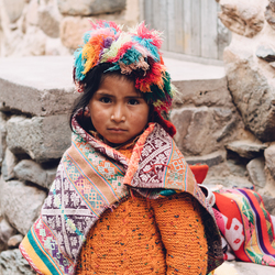 Meisje in Peru