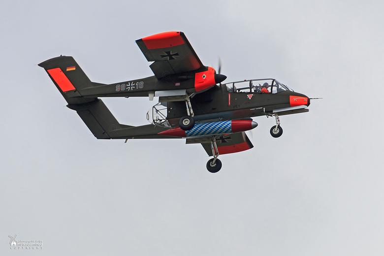 Volkel in de Wolken 2015 - De Rockwell OV-10 Bronco kwam voort uit de in 1961 door de Amerikaanse krijgsmachtdelen geuite vraag naar een lichtbewapend