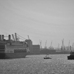 Holland Amerika lijn boot vertrekt!