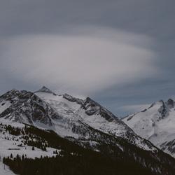 Nachtelijke wolken.