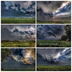 Collage opkomend onweer