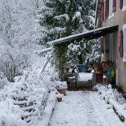 Verse sneeuw in de Vogezen