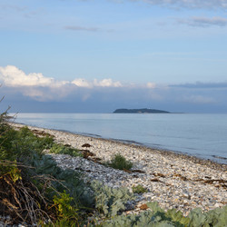 Øerne strand and eiland Hjerm.