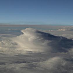 winterlandschap hoog in de lucht.