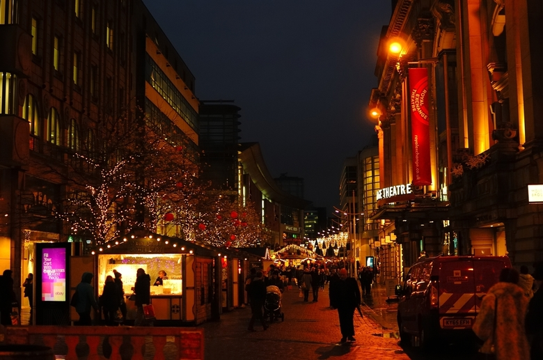 Manchester Christmas market(GB) - Gewoon een foto van de kerstmarkt aldaar.