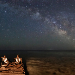 Enjoying the stars together