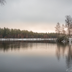 Winter sunrise Tevernerheide