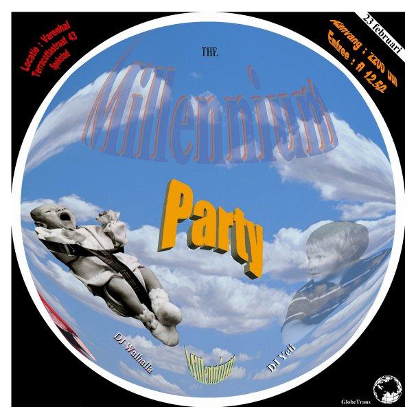 The millenium party - Het betreft een fictieve flyer voor een fictieve 2k party die ik gemaakt heb in 1999 op m'n eerste pc. De kinderen op de fo