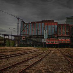 oude kolenmijn in Beringen Belgie