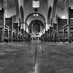Igreja Matriz de Alvor (interieur z/w)