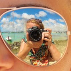 Selfie op Mauritius