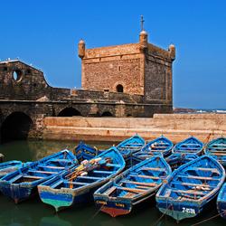 Bewerking: Vissersbootjes Essaouira 2 (Marokko)