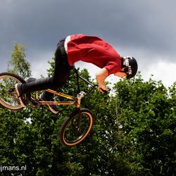 Halfpipe  fietsen op Fotofair 2015