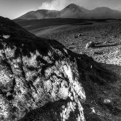 Etna in het zwart wit