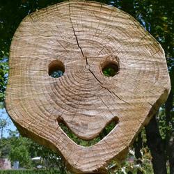 Houten Smiley.
