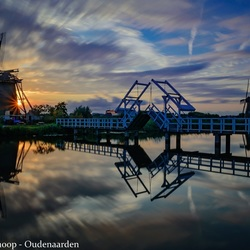 Sunset at Kinderdijk