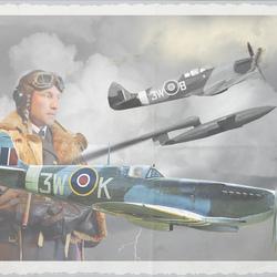 Spitfire`s van 322-Sqd  in de aanval op V-1`s