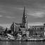 Maastricht, boten op de Maas.