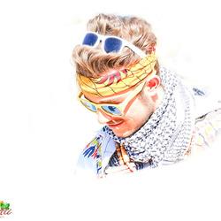 heel kleurige man.................