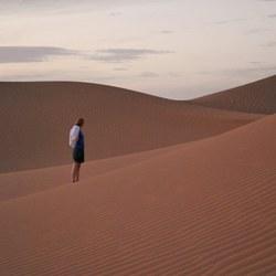 genieten van de woestijn
