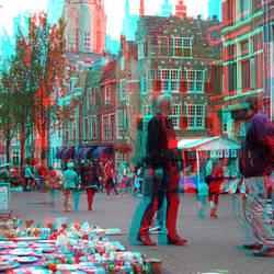 Antiekmarkt Delft 3D