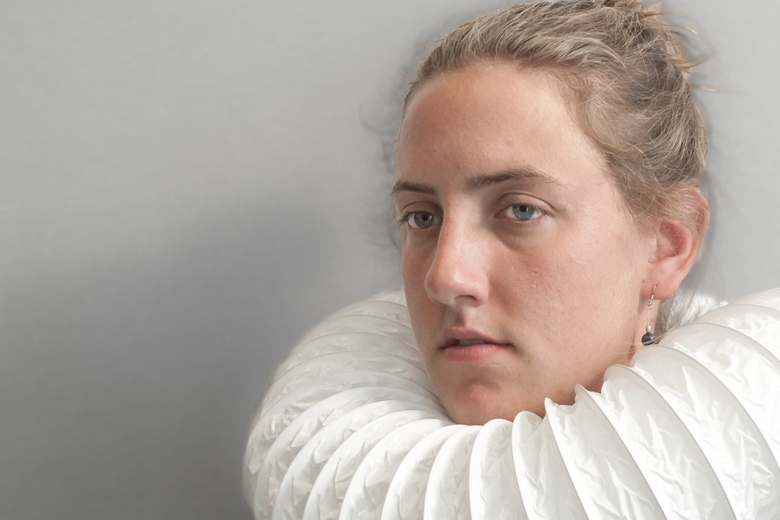 Oude meesters in een modern jasje - Een moderne variant van oude meesters, zoals bijv Michiel van Mierevelt.  Waarin de kanten kraag, hier vervangen d