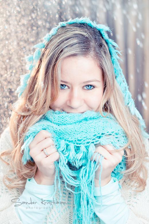Selina - Het trotseren van een heftige sneeuwstorm en bevroren vingers heeft dit mooie winter portret opgeleverd.