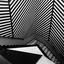Trappenhuis in zwart wit