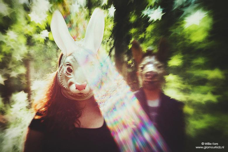 A rabbit's tale - Lensbaby Composer pro + double glass + creative apertures.<br /> <br /> Mijn twee oudste kinderen willen niet meer herkenbaar op d