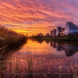 Magic sunset in the neighborhood