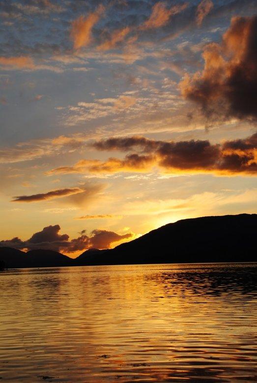 Zonsondergang in Schotland - Zonsondergang in Schotland op vakantie.