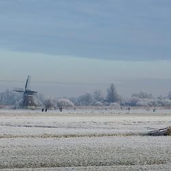 Winter in Ryptsjerksterpolder.