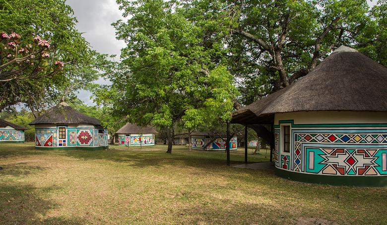 Zuid Afrika 21 - Timbavati Lodge, hier hebben we twee nachten geslapen. De zebra's, giraffen en bavianen liepen hier tussendoor.