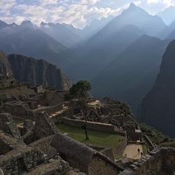 Machu Picchu in nevelen gehuld