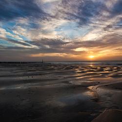 Zonsondergang Strand Cadzand
