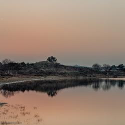 zonsondergang bij het vogelmeer