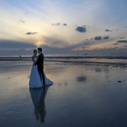 Bruidspaar op Ameland