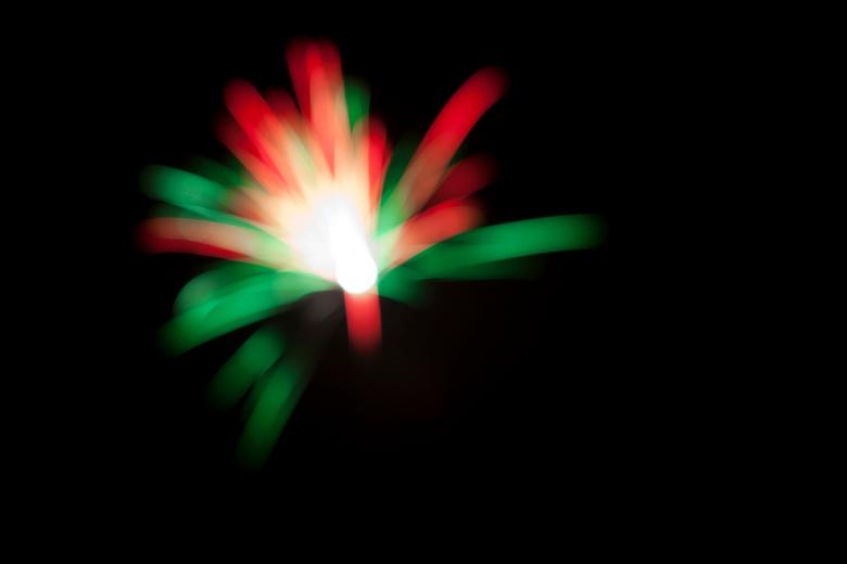 Firework, out of focus... - Nieuwjaarsnacht 2011