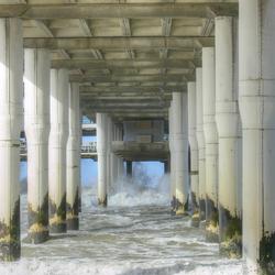 onderkant van de Pier in Scheveningen