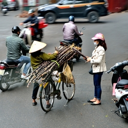 Bedrijvigheid in Hanoi, Vietnam.