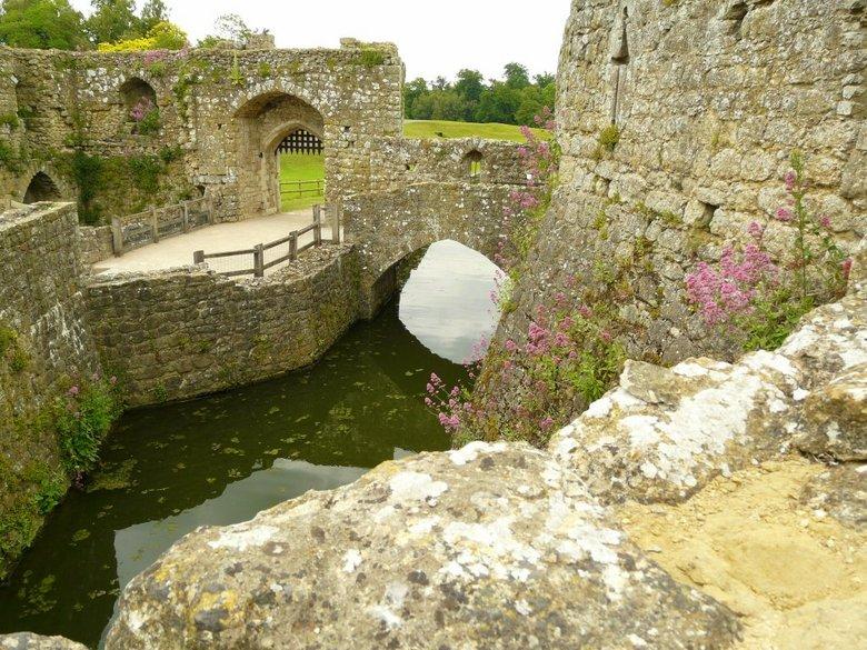 Verleden tijd - Waar deze verdedigingsmuur vroeger zo goed als onneembaar was nemen nu de planten langzaam de muur in hun bezit.