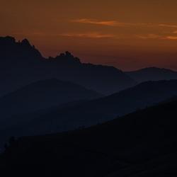 Zonsondergang in de Dolomieten