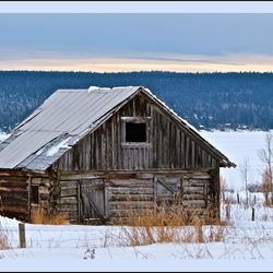 Old barn at the lake.
