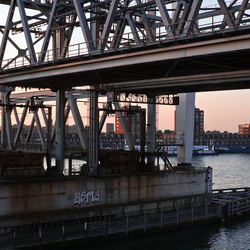 Treinbrug in Dordrecht