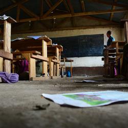lager onderwijs klasje Kenia