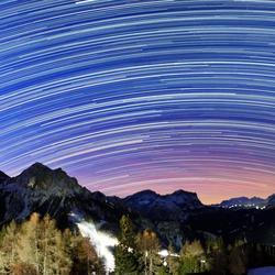 Star trails Kronplatz