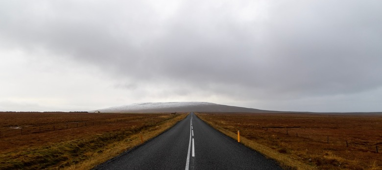 tThe road ahead is empty -